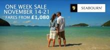 The Seabourn One Week Sale